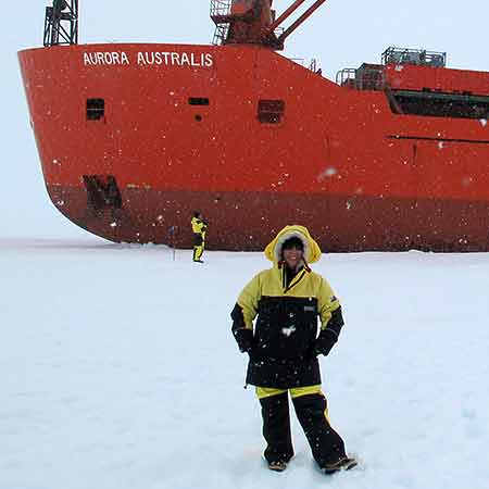 Setting foot on the ice of Antarctica. Working towards a fund raising ehibition for Mawson's Huts Foundation.