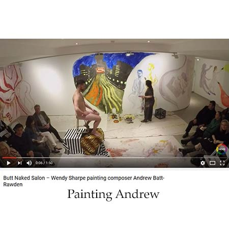 Sharp paints the composer Andrew Batt-Rawden