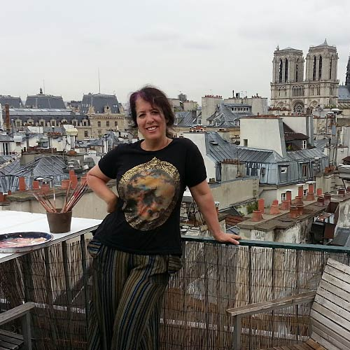 Working from a roof in Saint Michel, Paris 2014