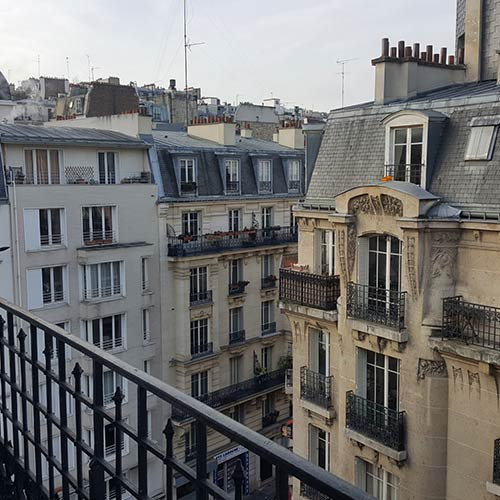 View from the apartment/artist studio of Wendy Sharpe and Bernard Ollis - Montmartre, Paris