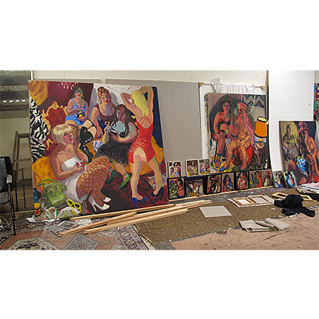 Work laid out - Saint Peters Studio, Sydney 2012