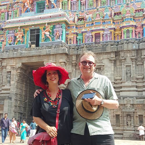 Wendy Sharpe and Bernard Ollis, Madurai, South India.