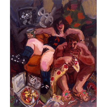 Hercules and Omphale 1994 Oil on canvas 152cm x 137cm Private collection