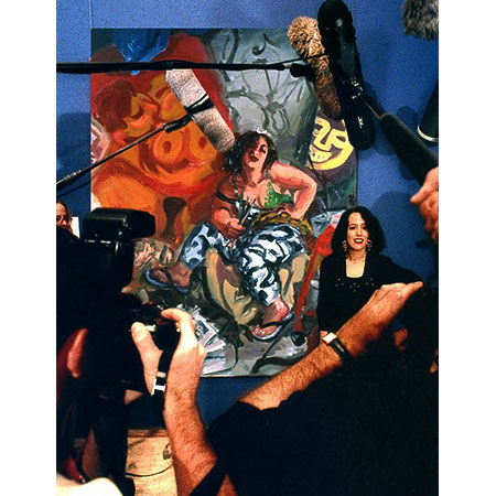 Sharpe wins Archibald Prize 1996 - Photograph by Lyn Campbell